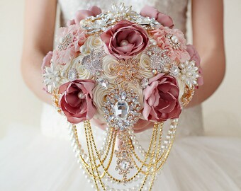 Wedding Brooch Bouquets Brooch Bouquet Bridal By Tatyanaagulina