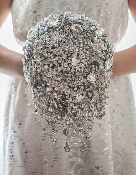 Brosche Bouquet Silberhochzeit Blumenstrauß Brautstrauß Etsy