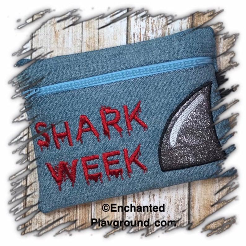 Shark Week fully lined Zipper Pouch image 0