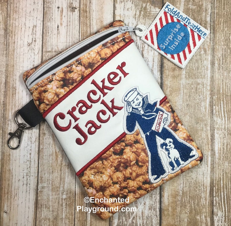 Cracker Jacks Zipper Pouch with zipper pull image 0