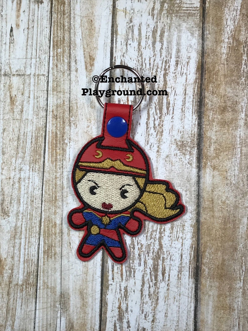 Captain Marvel Chibi key fob image 0