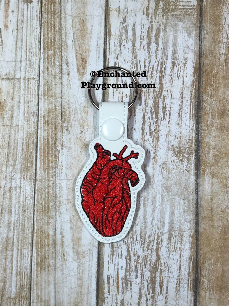 Anatomical Heart key fob image 0