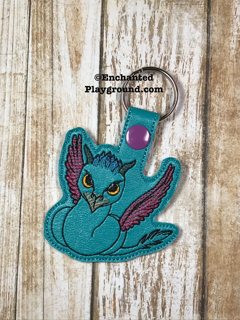 Winged Serpent Creature key fob image 0