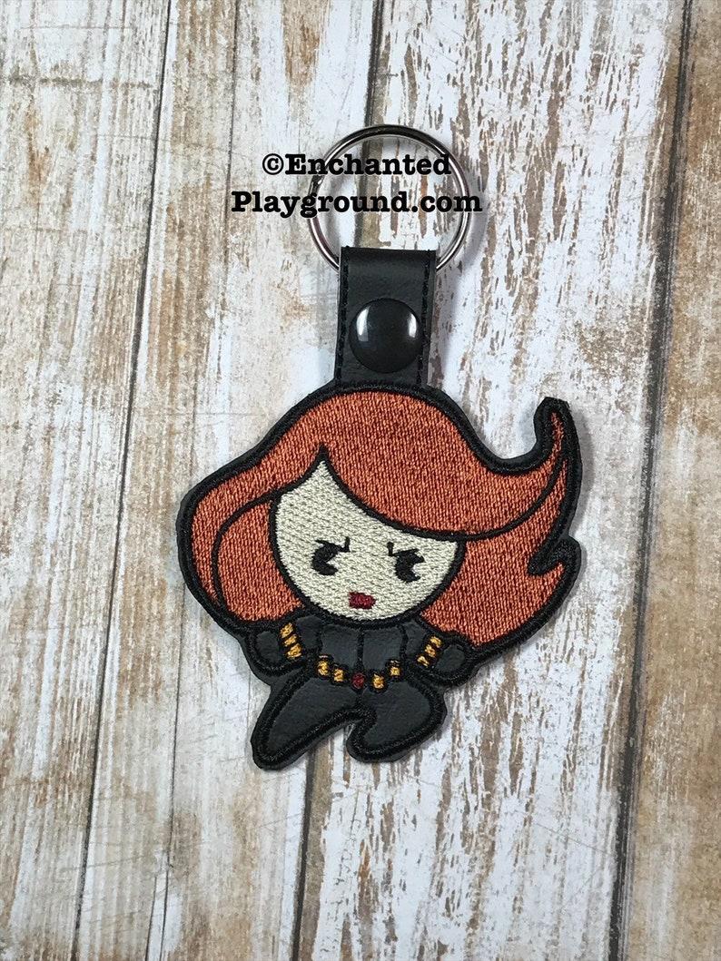 Black Widow Chibi key fob image 0