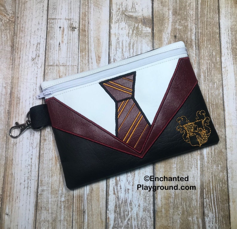 Wizard School Robe and Tie Zipper Pouch w/ zipper pull  Red image 0