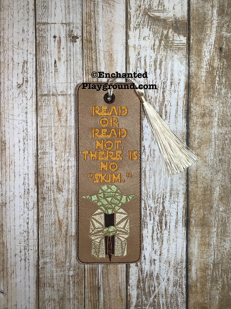 Read or Read Not There is No Skim bookmark with tassel image 0
