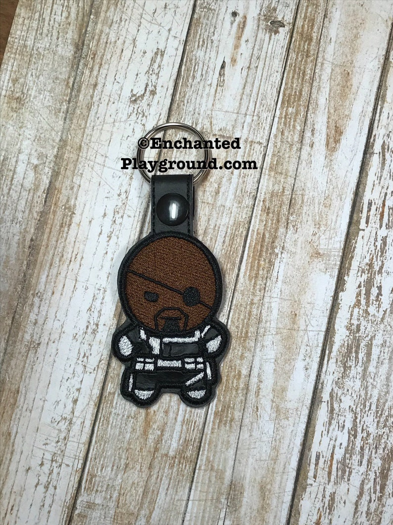 Nick Fury Chibi key fob image 0