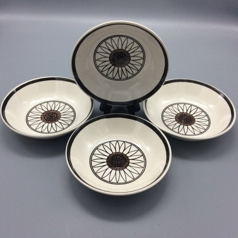 Royal China USA Casa del Sol Cereal Bowls Cavalier Ironstone - Set of 4 -  Shipping Included