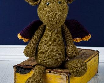 Smudge the Dragon - Crocheted Stuffed Animal