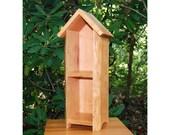 Fairy Shelf, Rustic Decor Cabinet, Primitive, Country Decor, Solid Cherry, Gift, Kitchen Spice Shelf, Curio Shelf