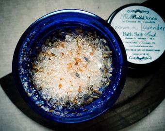 Herbal Bath Salt, Lemon Lavender Bath Salt Soak, Natural Salt Soak, Botanical Bath Salt Soak, Lavender and Lemon Bath Salts