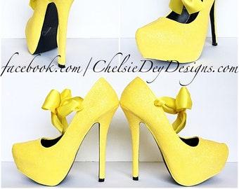 f40c06dc7 Yellow wedding shoes
