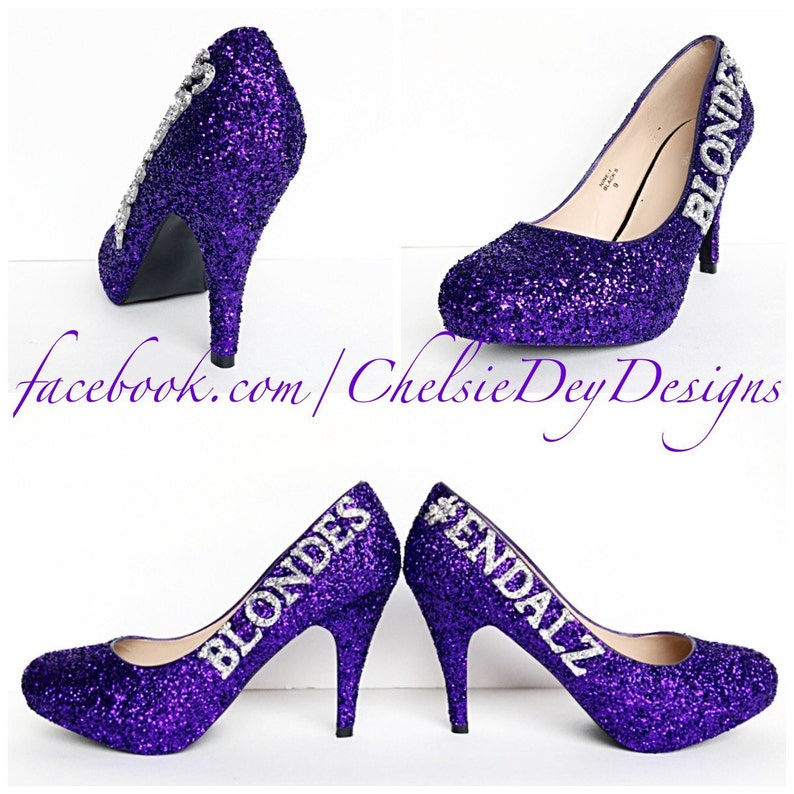 8a2741895b03 Purple Glitter High Heels Silver Royal Purple Eggplant Pumps