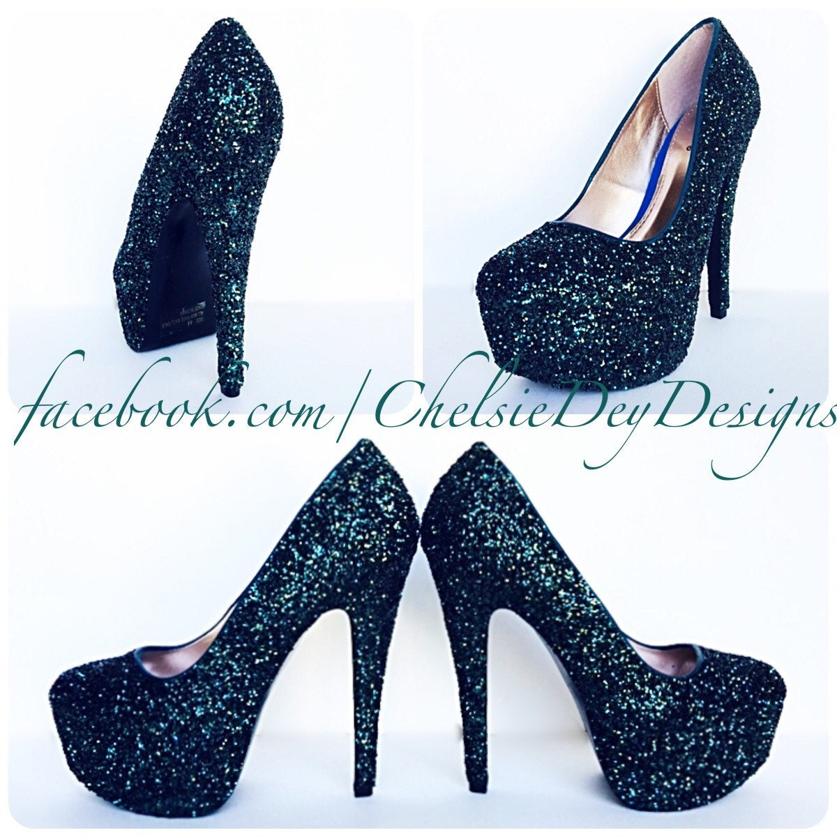 029425878af1 Glitter High Heels Dark Green Pumps Forest Army Green