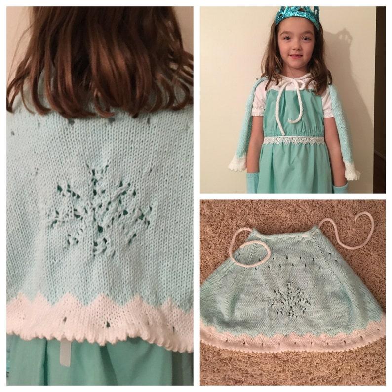 Frozen Elsa snowflake Cape Knitting Pattern PDF | Etsy