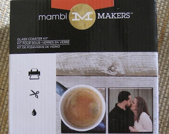 Mambi Makers Glass Coaster Kit, mint in box, never opened