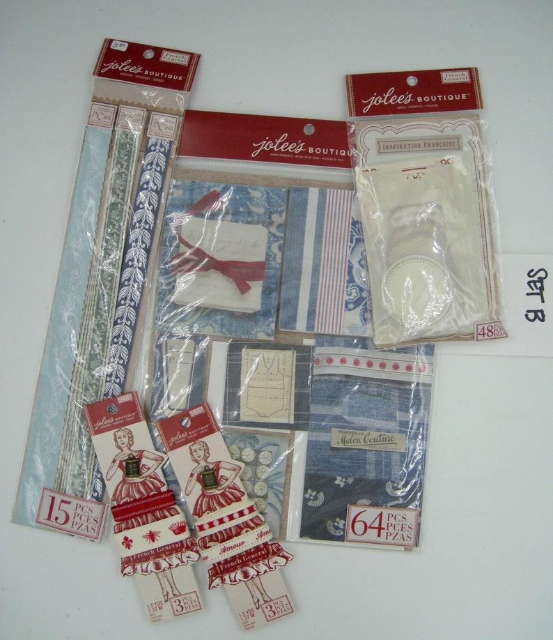 French General Jolee/'s Boutique Scrapbooking Materials Set B