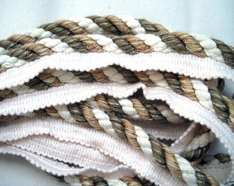Calico Corners Trim in Green, Tan, and White for pillows or upholstery
