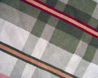 Calico Corners Plaid with textural pattern, 2 1/2 yards