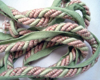 Braided Trim from Calico Corners in Greens, Pinks, and Yellows