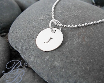 Personalized Jewelry - Initial Necklace - Handstamped Jewelry