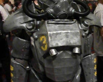 Fallout inspired armor, Fallout armor,  power armor, costume armor, cosplay armor, cosplay prop, Fallout, post apocalyptic