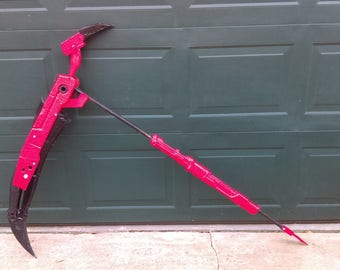 RWBY, Crescent rose, death scythe, scythe prop, cosplay prop, prop weapon, Larp weapon, film props