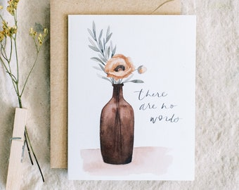There Are No Words - greeting card