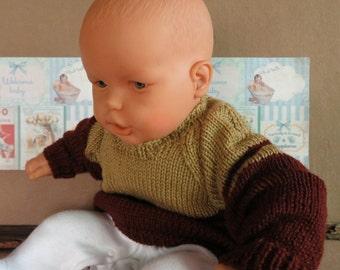 Handmade Brown / Tan Toddler Jumper, Unisex Baby Sweater
