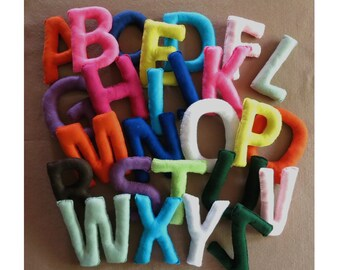 Wall Letters, Felt Alphabet, Nursery Letters, Felt Letters, Name Banner, Wall Art, Nursery Decor, Felt Toys,  Name Sign, Kids Personalized