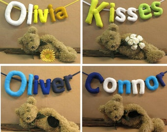 CustomName Banner,Personalized Felt Name Bunting, Baby Name Bedroom Garland