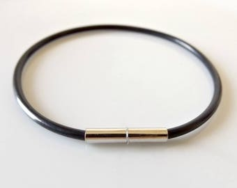 Mens Bracelet Man Bracelet Rubber Bracelet Black Bracelet Etsy