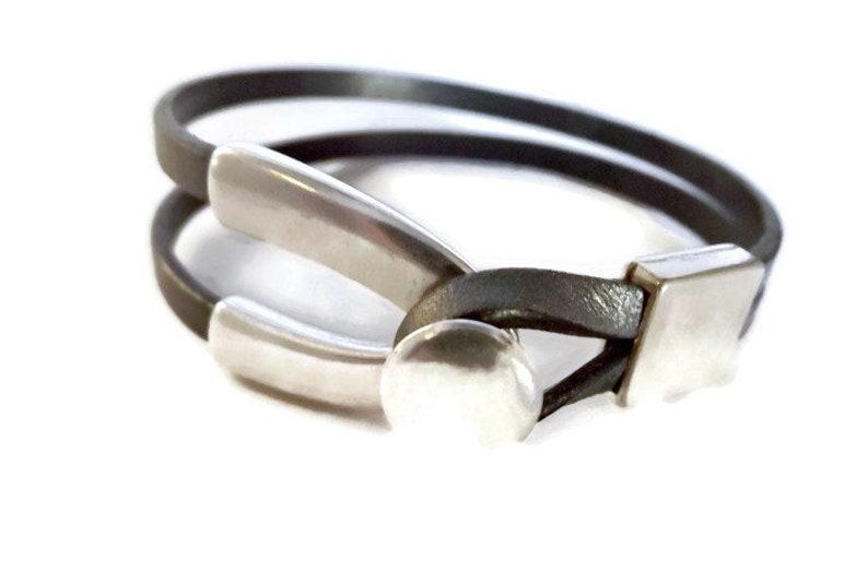 leather bracelet for woman bracelet for woman wishbone image 0