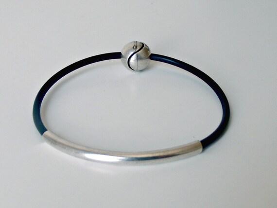 Rubber Bracelet Black Bracelet Bracelet Rubber Jewelry Etsy