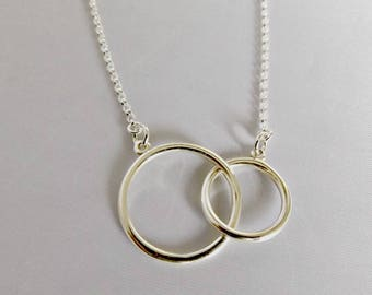 Circle necklace, layering necklace, eternity necklace, everyday necklace, silver necklace, delicate necklace, simple necklace