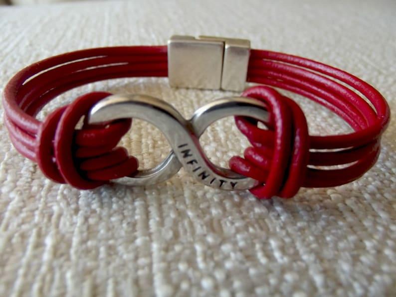 silver bracelets K1811 Mens bracelets leather bracelet infinity bracelet infinity bracelet leather infinity leather bracelet