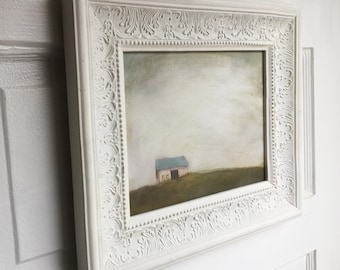 Hand-Painted & Sealed Barn Reproduction Print 8x10 in White Frame