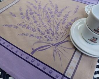 Purple and gray cotton Jacquard Napkins Matching Table cloth Holiday gift Lavender lover Christmas Cloth napkin