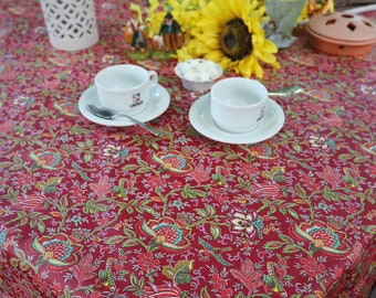 Extra long Large Rectangular table cloth French Coated linen oilcloth Custom orders Eco friendly gift Thanksgiving setting Paisleys print