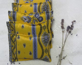 Lavender sachets.Set of sachets, Set of lavender hanger sachets.Lavender's lover gift.Choose your setProvencal gift Little flowers in yellow