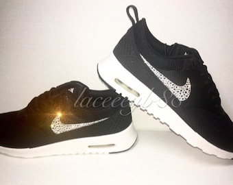 Bling Swarovski Nike Air Max Thea-Black Summit White 61bbce481f69