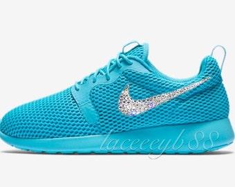 464a8ece374c Bling Swarovski Nike Roshe One Hyper Breathe-Gamma Blue