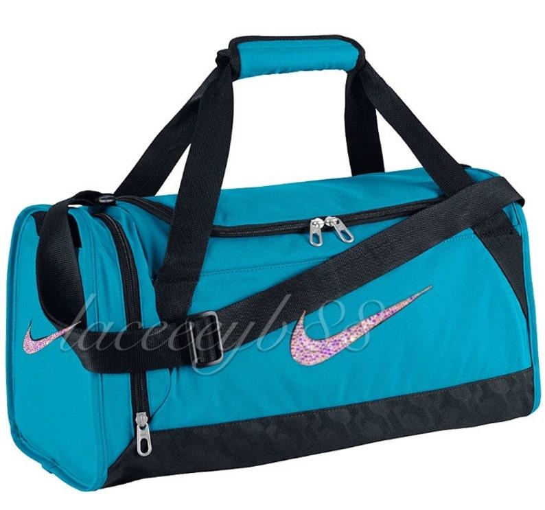 XS-Bling Swarovski Nike Duffel Bag-Blue LagoonNike BagBling  04b57d072f0d3