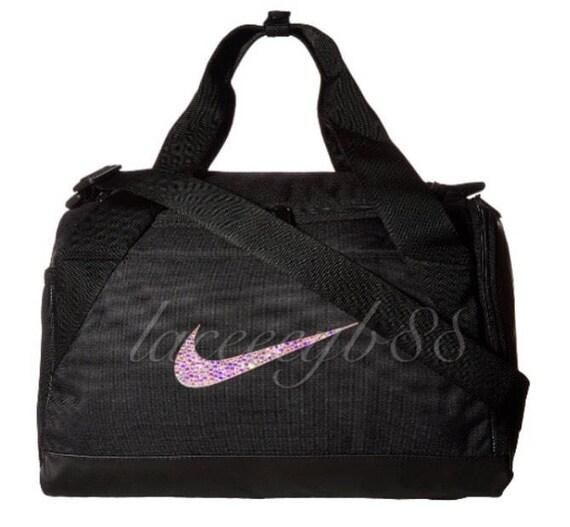 8954cdd1b1c7 ... cheapest a625c c2270 Bling Swarovski Nike Duffel Bag-Black Nike Bag  Bling Nike ...