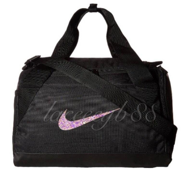 cb58bb4f41 Bling Swarovski Nike Duffel Bag-BlackNike BagBling Nike
