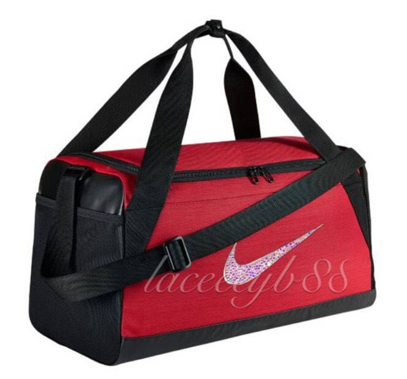 652b6496d3 Bling Swarovski Nike Duffel Bag-Red Bling Bag Bling Nike