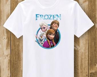 Frozen  T-Shirt - Elsa, Anna, Olaf, Kristof