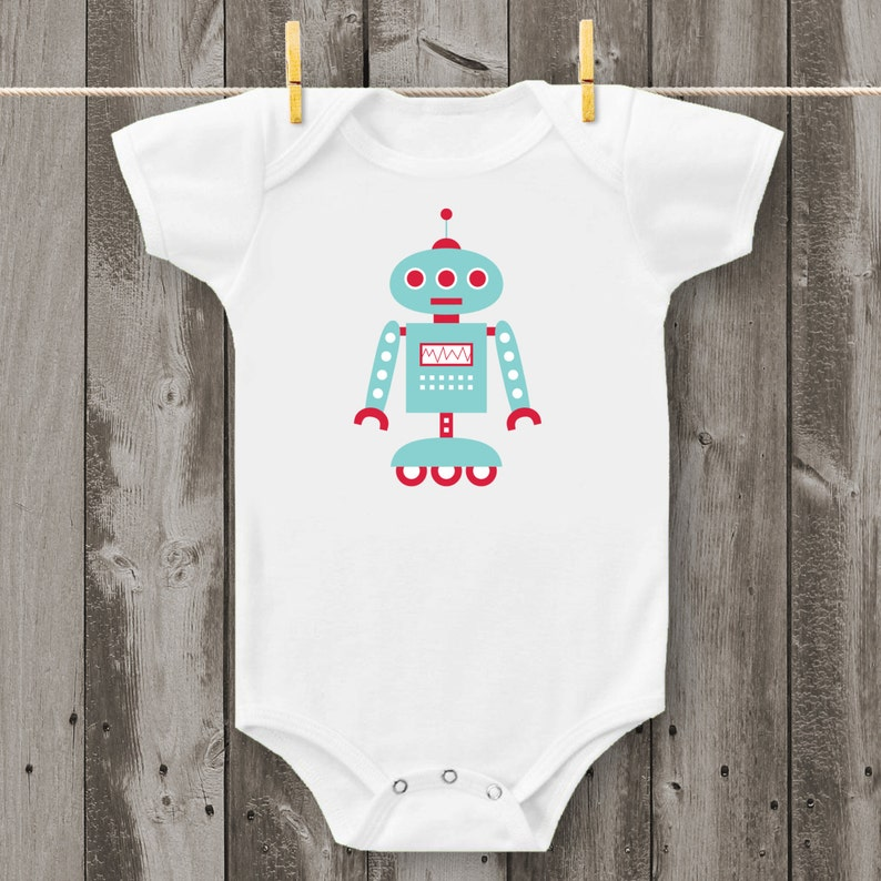 Design 2 Robot Bodysuit or T-Shirt