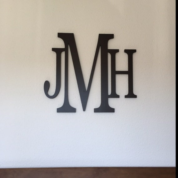 Home Decor Wooden Monogram Wall Hanging Letters Wall Art | Etsy