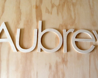 10 INCH unfinished wooden letters-wooden wall letters- nursery letters- hanging letters- any FONTS